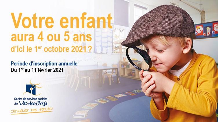 Période d'inscription à la maternelle pour 2021-2022
