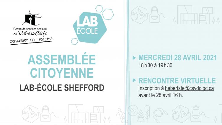 Invitation à la 3e assemblée citoyenne du Lab-École Shefford
