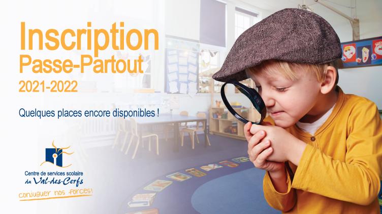 Inscription à Passe-Partout en cours!