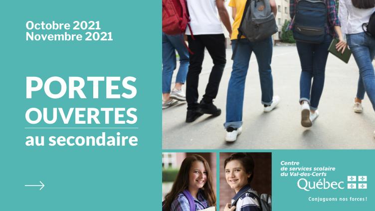 Portes ouvertes au secondaire 2021